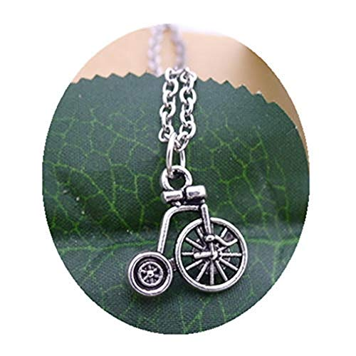 Gykmdf collana della bicicletta, ciondolo, charm in argento, gioielli artigianali gioielli