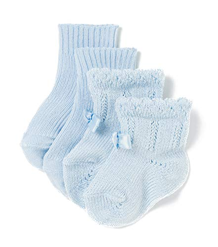 TEX - Pack 2 pares Calcetines para Recién Nacido, Celeste, 13/14
