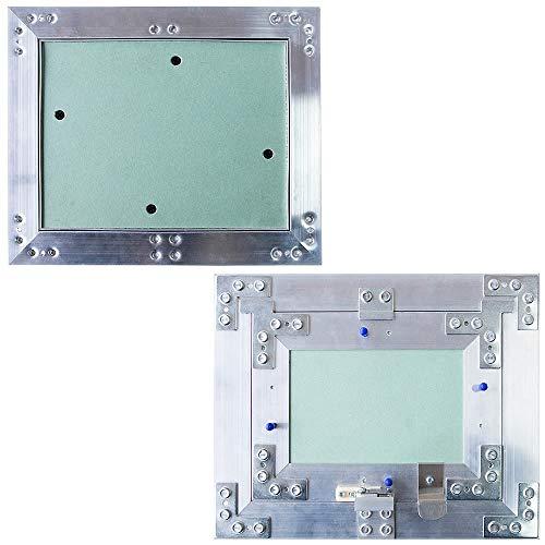 Melko Revisionsklappe mit Druckverschluss aus Gipskarton und Aluminium - Grün - 60 x 60 cm - perfekt für Heizung und Co.