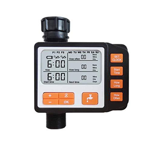 YUYAXAF Automático Digital Watering Timer,Aqua Control Programador de Riego para Regar Flores y Césped Fácil de Usar