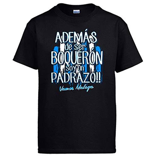 Diver Bebé Camiseta además de ser Boquerón Soy un padrazo Málaga fútbol - Negro, L