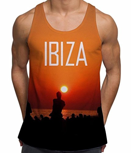 Ibiza Sunset Beach Party Print Men's Vest - X Large