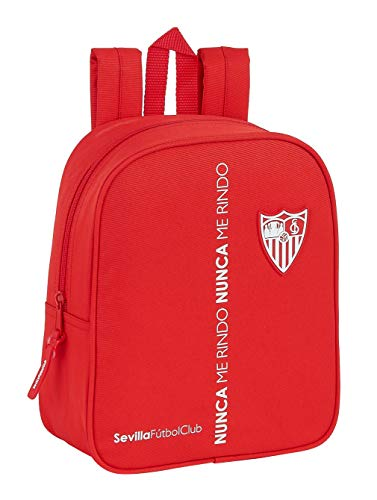 Sevilla FC Mochila Trolley 45cm Compact con Ruedas Corporativa Tiempo Libre y Sportwear 45 cm Adultos Unisex Multicolor Multicolor