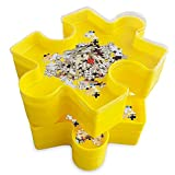 teytoy Set di vaschette impilabili e impilabili, per riporre oggetti e riporre oggetti, accessorio ideale per gli amanti dei puzzle con 6 vaschette di selezione e 1 coperchio trasparente