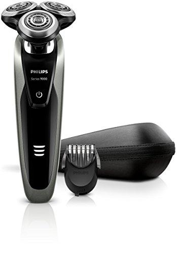 Philips Rasoi Elettrici Serie 9000 S9161/42 Rasoio Elettrico Wet & Dry con Lame di Precisione V-Track e Tecnologia Contour Detect, Include Regolabarba 5 Lunghezze