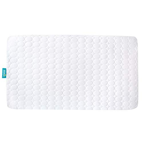"""Biloban Toddler Waterproof Crib Mattress Pad Cover, Machine Washable & Dryer Fit Baby Bed Mattress Protector(Standard Size 52"""" x 28"""")"""