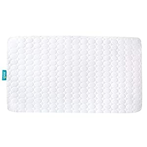 "Biloban Toddler Waterproof Crib Mattress Pad Cover, Machine Washable & Dryer Fit Baby Bed Mattress Protector(Standard Size 52"" x 28"")"
