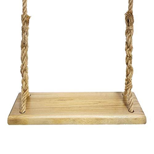 Aoneky Schaukel, Holz Brettschaukel, Baumschaukel & Kinderschaukel & Schaukelsitz aus Holz, für Erwachsene und Kinder, Kinderspielzeug, Festgeschenk, Länge 60cm(Paulownia Holz)