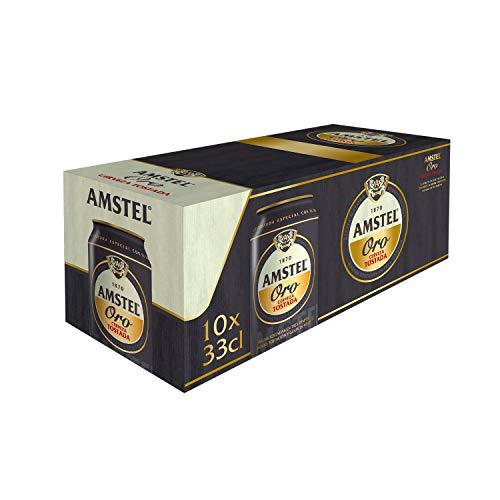 Amstel Oro Cerveza, Pack de 10 x 33cl