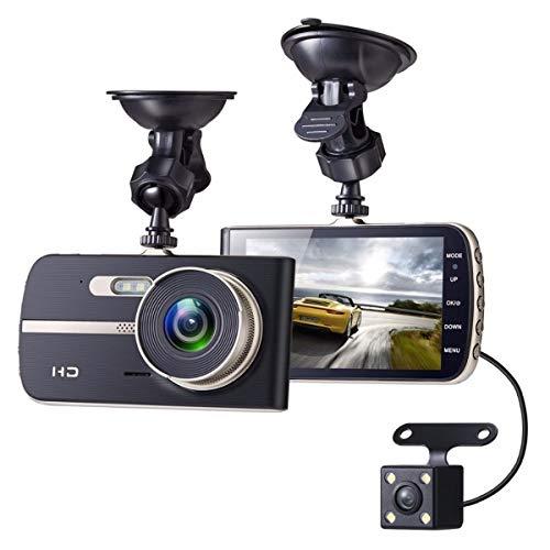 KAPAYONO 4 Zoll FHD 1080P DVR Kamera Doppel Objektiv Nacht Sicht G-Sensor RüCkansicht Auto Registrator und die Autokamera Video Recorder Autokamera