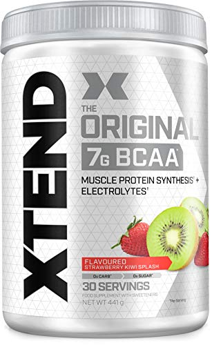 XTEND Original BCAA Powder Strawberry Kiwi Splash | Branched Chain Amino Acids Supplement | 7g BCAAs + Muscle Protein Synthesis Electrolytes for Recovery & Hydration | 30 Servings
