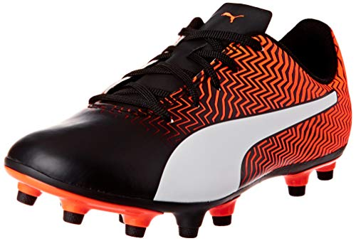 PUMA Rapido II FG Jr, Scarpe da Calcio Unisex-Bambini, Arancione (Shocking Orange Black White), 38.5 EU