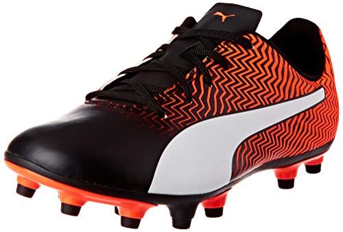 PUMA RAPIDO II FG JR, Zapatillas de fútbol Unisex niños, Naranja (Shocking Orange Black White), 28 EU