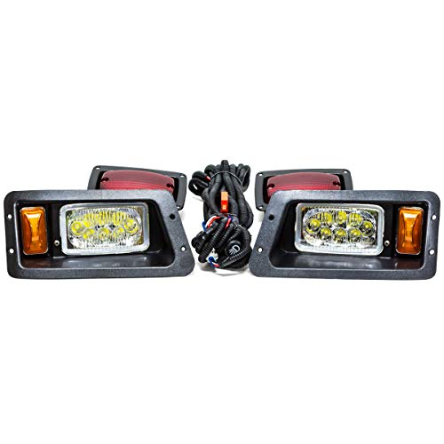 EPR Golf Cart LED Headlight Tail Light Kit Compatible With Yamaha 1995-2007 G14-G22 12V Gas Electric