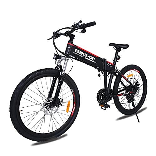 VIVI E-Bike klapprad,26 Zoll Elektrofahrrad Mountainbike Für Herren Damen,Ebike Trekkingrad Pedelec Citybike mit 36V 8AH ausziehbarer Baterrie 250 Watt Motor,Elektrisches Fahrrad 25 km/h (21-Gang)