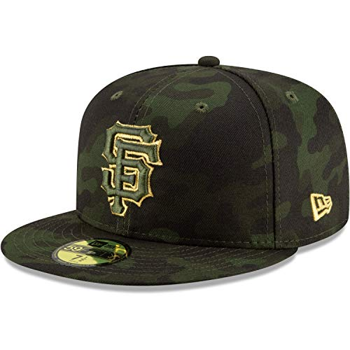 New Era San Francisco Giants 2019 MLB Armed Forces Day On-Field 59FIFTY Fitted Hat - Camo (7 3/8)