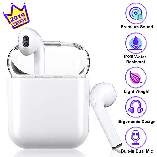 Auriculares Bluetooth,24H Playtime Micrófono Doble Incorporado,Auriculares...