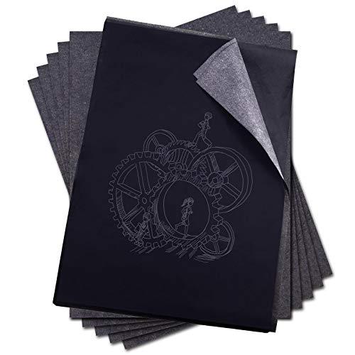 YINETTECH 100 Vellen Zwart Carbon Tekening Transfer Papier Set A4 Tracing Schetsen Canvas Hout Art Oppervlakken