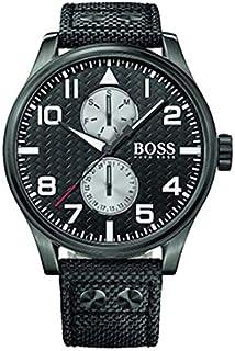 Hugo Boss Maxx Aeroliner Men's Black Dial Fabric Band Watch - HB1513086
