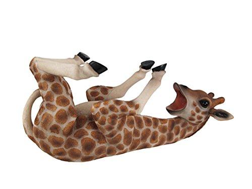 DWK-HD33043 - Adorable 14 Inch Giraffe Wine Bottle Holder Figure - Home Decor Safari Sculpture Decoration - Decorative Kitchen Animal Statue - Drinking Decanter Gift - Funny Figurine Wines Ornament