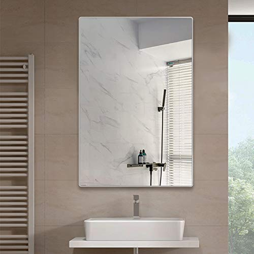 belle electrical Wall Mount Bathroom Mirrors 36X24 Inch, Large Modern Rectangular Aluminum -