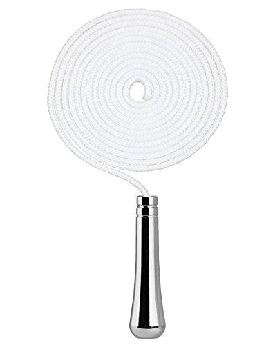 SFTlite Licht Pull Cord Teardrop Verlängerung Mit Kabel Stecker 150 cm Lange Badezimmer Wc Schalter Verchromt Deckenventilator Licht Pull Cord