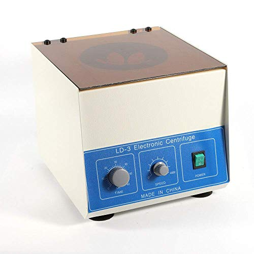 WLL-DP Electric Lab Benchtop Centrifuge, LD-3 Low-Speed 4000rpm Centrifuge Machine 6 Tubes x 50ml, with Timer 0-60min and Speed Control