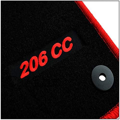 Car Lux AR02820 Tapis de sol en velours avec bordure rouge pour 206 CC