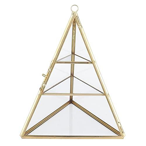 Raguso Torres de joyería, Estante de Almacenamiento de Joyas en Forma de pirámide, Soporte de exhibición Decorativo de 3 Capas para Pendientes, Collares, Pulseras
