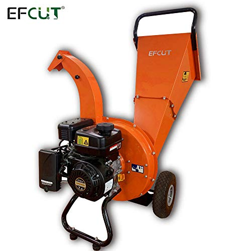 Lowest Price! EFCUT C30 Mini Wood Chipper Shredder Mulcher 7 HP 212cc Heavy Duty Engine Gas Powered ...