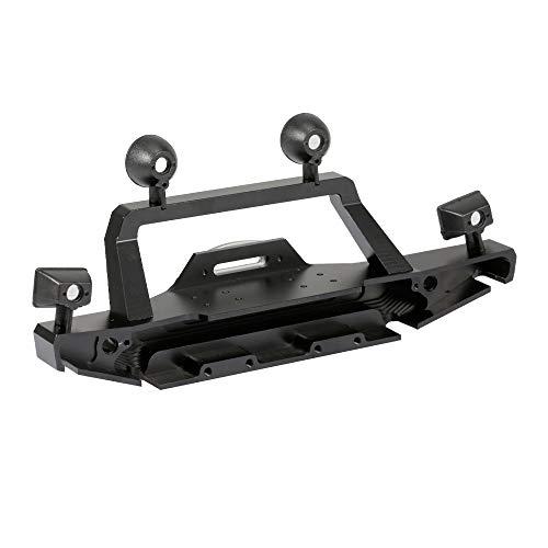 Goolsky TRX-4 Metall Frontstoßstange mit 2 Led-Leuchten für 1/10 RC Crawler Traxxas TRX4 Sport 82024
