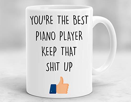 Piano Player Mug, Piano Player Gift, Piano Player Appreciation, Piano Player Cup, Piano Player Present P570