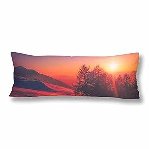 "InterestPrint Custom Body Pillow Covers Pillowcase Macaron Throw Pillows 21""x60"" Two Side Printing Pillow Cover"