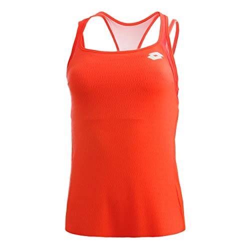 Lotto Damen, Tech PL Tank-Top Orange, Weiß, L Oberbekleidung, L
