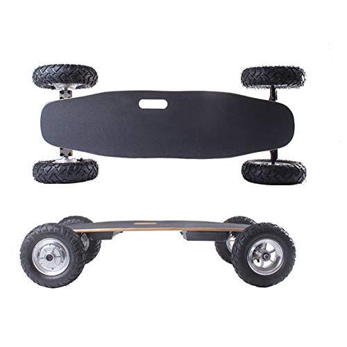 XTZ-YGBG Fernbedienung elektrisches Skateboard Longboard, Off-Road Starke elastische Luftreifen, 40 km/h, Ausdauer 15Km, Student Office Worker