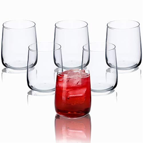 KADAX Wassergläser, Set von 6, Trinkgläser, Saftgläser aus Glas, robuste Gläser für Wasser, Saft, Garten, Party, Drink, Bier, Universalgläser, Cocktailgläser, Getränkegläser (Rebeka, 330ml)