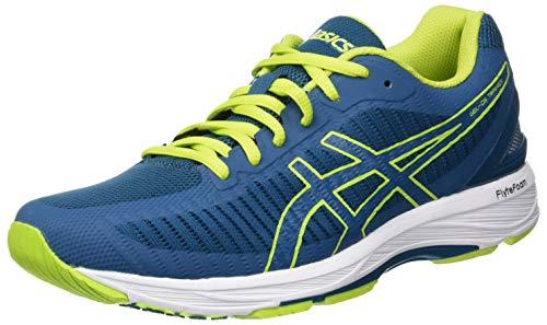 Asics Gel-DS Trainer 23, Zapatillas de Entrenamiento Hombre, Turquesa (Deep Aqua/Rose Neon Lime 400), 41.5 EU