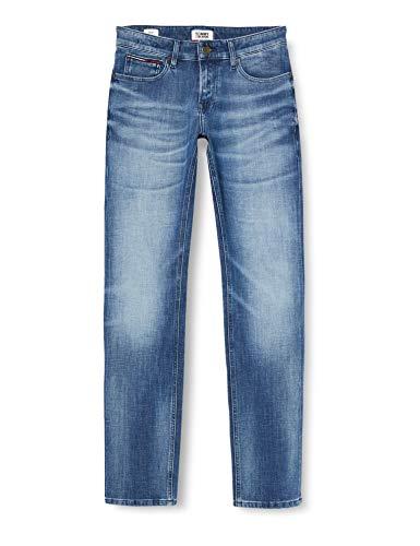 Tommy Jeans Herren Scanton Slim Dycrm Straight Jeans, Blau (Dynamic Cross Mid St A), W38/L34