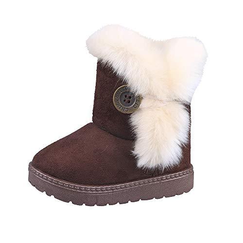 Botas Militares de Nieve Altos para Niñas Pelo Invierno PAOLIAN Zapatos Bebés...