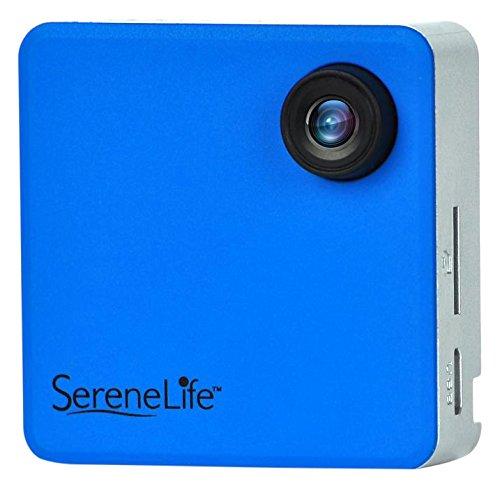 SereneLife SLBCM18BL Blaue, tragbare Full-HD-Kamera mit integriertem WLAN Perfekt für ein Klassenzimmer zum Aufnehmen von Lesen, Sport, Joggen, Radfahren, Wandern, Angeln und Camping