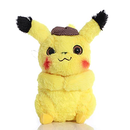 CVBA PokemonPikachu Juguetes De Peluche Detective Muñecos De Peluche Suaves Regalos para Niños 28Cm