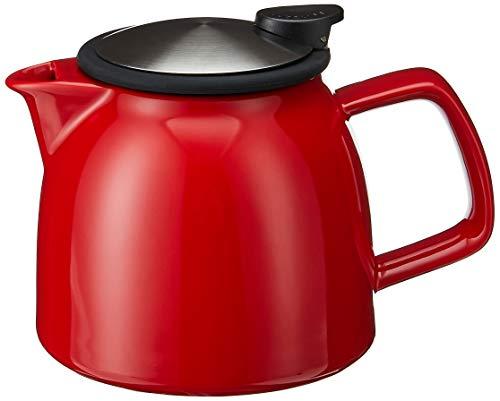 Forlife Tetera de cerámica con colador de té, 770 ml, color rojo
