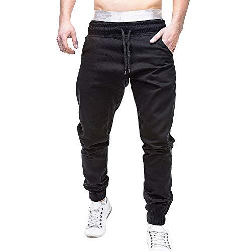 OverDose hombre Pantalones De Chándal Pantalones Casual Elásticos Joggers Deporte Sólido Bolsos Anchos Pantalones Pantalones Casuales De Trabajo Elásticos