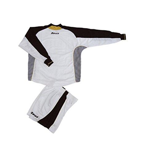 Zeus - Equipement foot goal Matrix - Couleur : Blanc Noir Jaune - Taille : XL