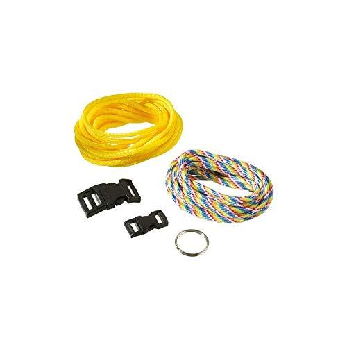 Efco knutselset voor 2 armbanden, paracord, geel en regenboog, parachutekoord met sluiting