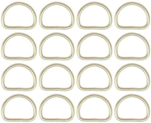 Mad - Welded D Rings - 10, 12, 14, 16, 18, 20, 22, 24, 26, 28, 30, 35, 40, 50mm - Nickel Plated Steel - Package from 1 to 100 pieces - (20 pieces, 20mm)