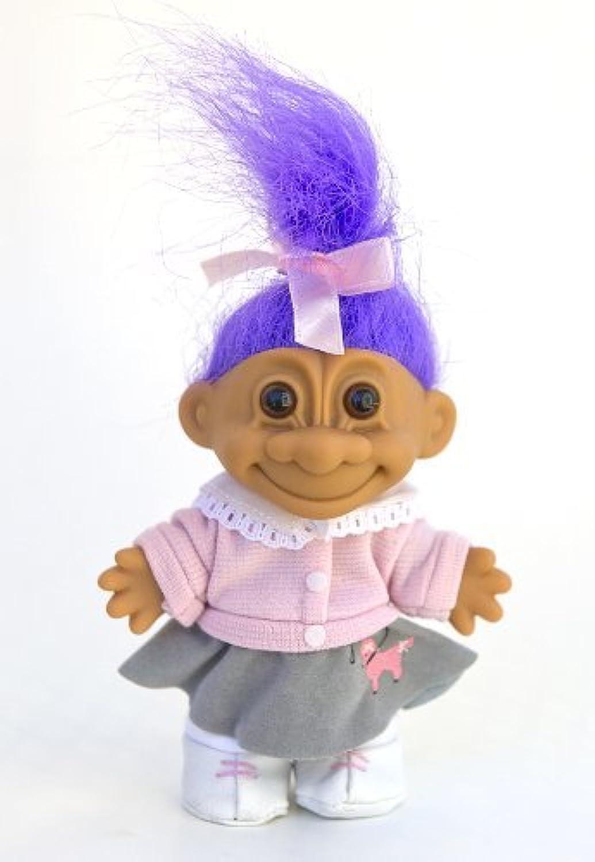 distribución global My Lucky 1950's 1950's 1950's Poodle Skirt 6 Troll Doll - púrpura Hair by Russ Berrie  gran descuento