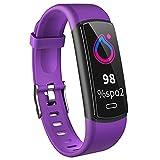Smartwatch Reloj Inteligente A Prueba De Agua IP68 Para Hombres, Smart Watch 0.96 Pulgadas Con Deportes, Ritmo Cardíaco, Caloría, Sueño, Pulsera De Actividad Inteligente Con Ios Android,Púrpura
