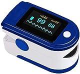 Qootec Ossimetro da Dito Display OLED, Pulsossimetro Saturimetro Saturazione Ossigeno nel Sangue, Indice di Variabilità Pletismografica e Perfusione, Frequenza del Polso Allarme SPO2.