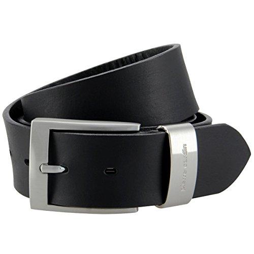 Pierre Cardin 70007 - Cinturón de piel para hombre y mujer, talla XXL, color negro marrón 120 cm